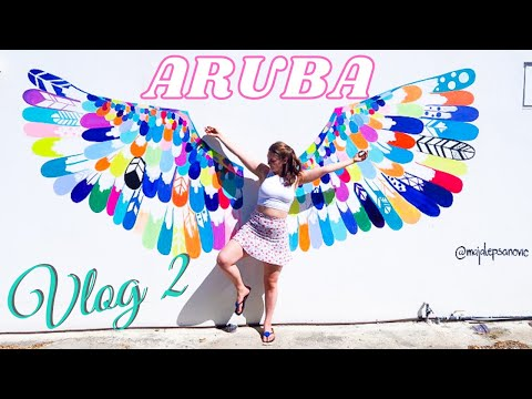 ARUBA VLOG 2 | Airbnb tour, palm beach, vegan burgers and visiting Island Yoga