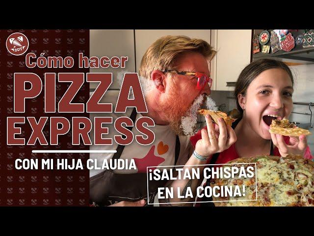 Cómo hacer una PIZZA EXPRESS *¡Saltan chispas en la cocina!*