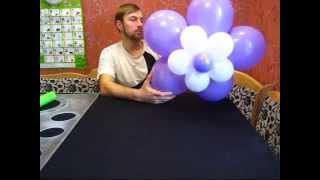 Большой цветок из воздушных шаров (Large flower of balloons)