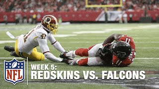 Julio Jones Recovers a Fumble in the End Zone for a TD | Redskins vs. Falcons | NFL