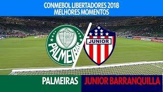 Melhores Momentos - Palmeiras 3 x 1 Junior Barranquilla - Libertadores - 16/05/2018