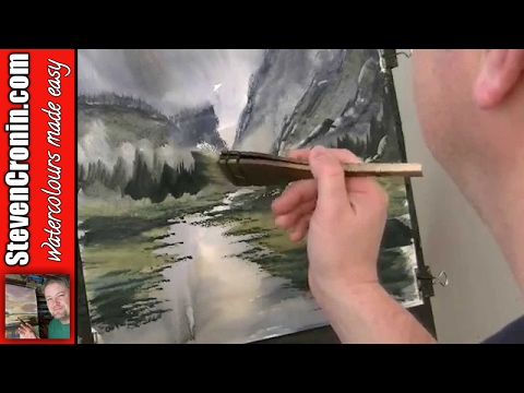 River Valley Watercolour Painting Lesson