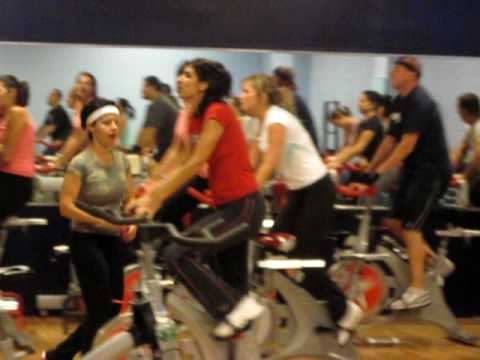 Force Fitness Club Spin Class....'70's theme