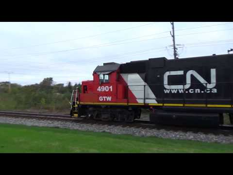 Old Grand Trunk Western Switcher In CN Paint