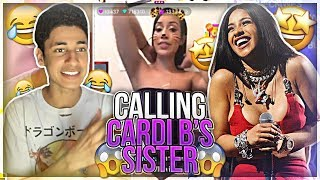 Unexpected Call From Cardi B's Stripper Sister!