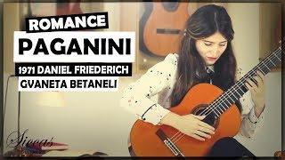 Gvaneta Betaneli plays Romance by Niccolò Paganini on a 1971 Daniel Friederich