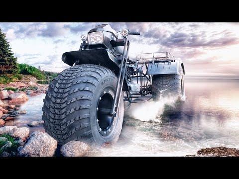 Homemade amphibious all terrain vehicle Vasugan 3x3WD