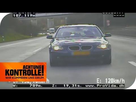 Autobahnpolizei fasst Raser: Fliegender Holländer im 5er BMW!   Achtung Kontrolle   kabel eins