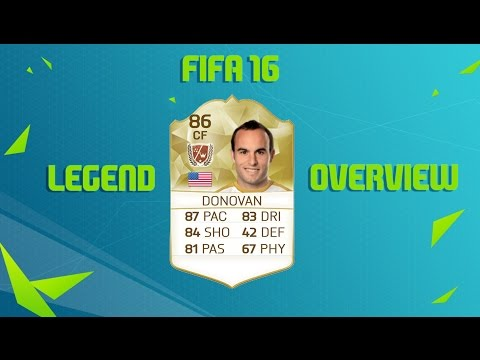 FIFA 16 ULTIMATE TEAM LANDON DONOVAN 86 RATED LEGEND OVERVIEW