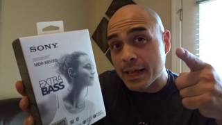 Sony MDR-XB50BS Bluetooth Headphones Review/Unboxing