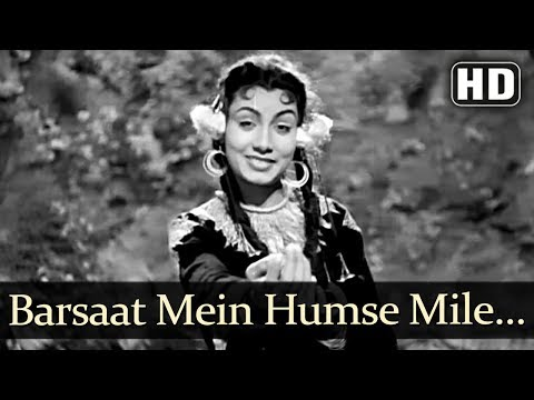 Raj Kapoor Song - Barsaat Mein  - Barsaat (1949) Nargis, Nimmi, Raj Kapoor - Popular Bollywood Song