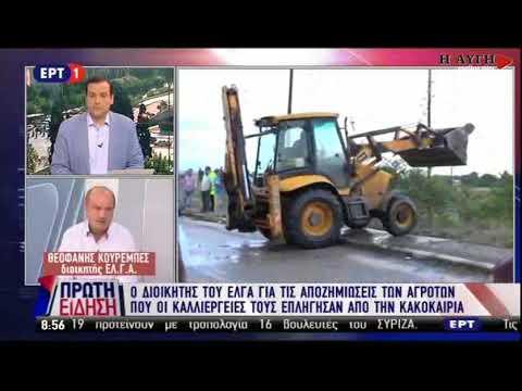 Διοικητής ΕΛΓΑ: Θα αποζημιωθούν όλοι οι αγρότες που υπέστησαν ζημιές από την κακοκαιρία