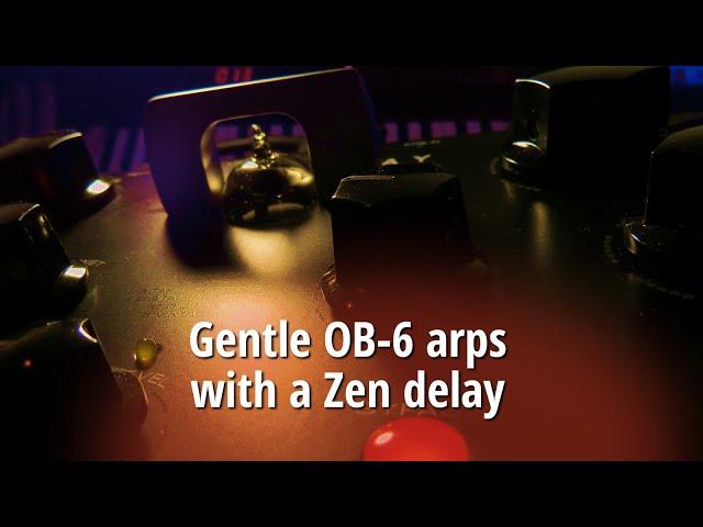 Gentle OB-6 arps with a Zen delay