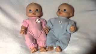 Hasbro baby Alive  anatomically correct Boy & Girl wet and wiggles Doll .