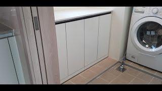 과천 푸르지오써밋 세탁실 다용도실 보조주방 수납장 설치…
