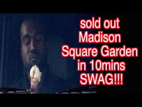 Kanye west sells out madison square garden in ten minutes - Kanye west tickets madison square garden ...