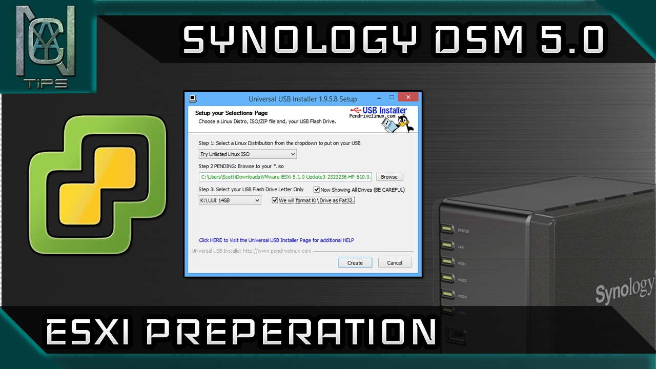 Installing ESXi - Synology DSM on Non Synology Hardware - Interactive Guide