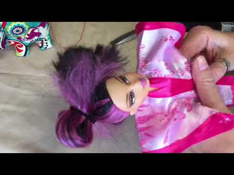 #DIY #DOLL #CLOTHES How to make a doll kimono tutorial