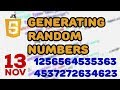 How to generate JavaScript random numbers