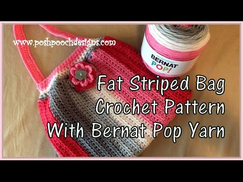 Fat Striped Bag Crochet Pattern