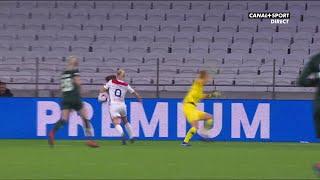 UEFA WCL - 1/4 de finale aller - Lyon / Wolfsbourg - Eugénie Le Sommer ouvre le score pour Lyon !
