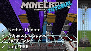 Gold and XP Farm | FAST | Adjustable Speed | Firetick OFF | Minecraft Bedrock 1.16 Nether Update