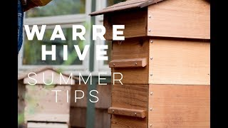 Warre Hive Summer Tips