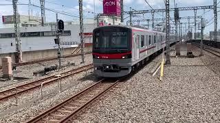東武70090系 特急スペーシアリバイバル塗装 東京メトロ8000系 新越谷にて