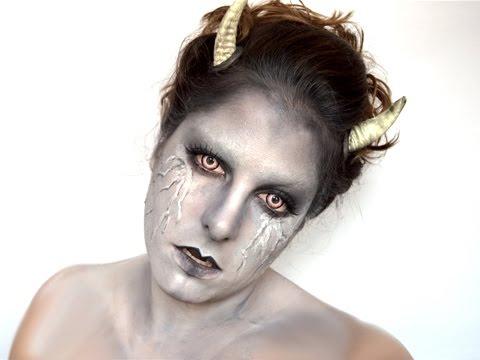 halloween devil makeup maquillaje diablesa