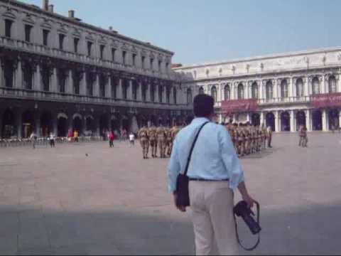 marching at piazza san marco in Venice