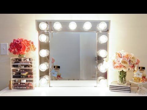 DIY| VANITY GIRL, IMPRESSIONS, HOLLYWOOD STYLE VANITY GIRL LIGHTED MIRROR