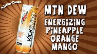 Energy Drink Project - Mountain Dew Kickstart Pineapple Orange Mango