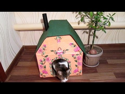 Дом для кошки своими руками на улице фото