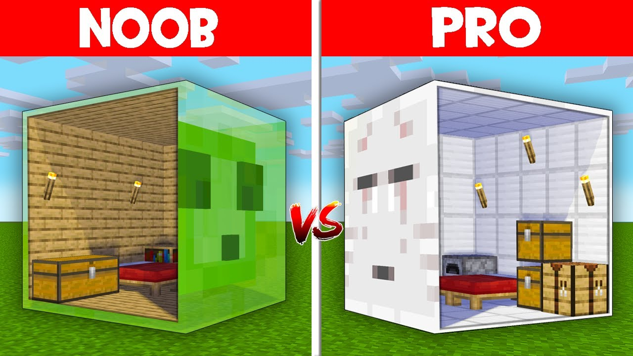 Minecraft NOOB vs PRO: NOOB FOUND HOUSE INSIDE SLIME vs HIDDEN BASE INSIDE GHAST! (Animation)