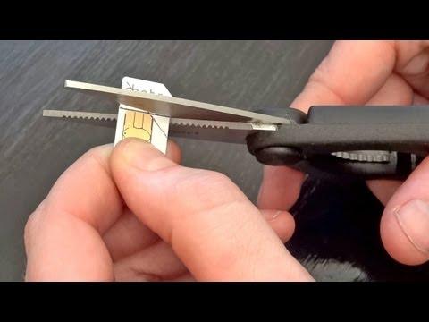 How to cut your SIM card (Micro SIM, Nano SIM - iPhone 5)