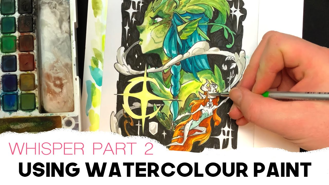 Painting with WATERCOLOUR - 'Whisper' PART 2