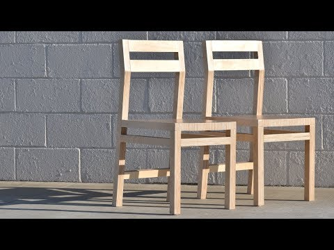 DIY Modern Plywood Chair | How To Make Two Chairs From One Sheet | #rocklerplywoodchallenge
