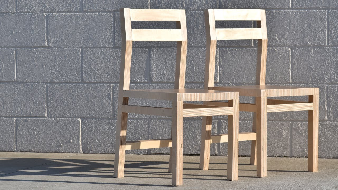 how to make a plywood chair folding abu dhabi diy modern two chairs from one sheet rocklerplywoodchallenge