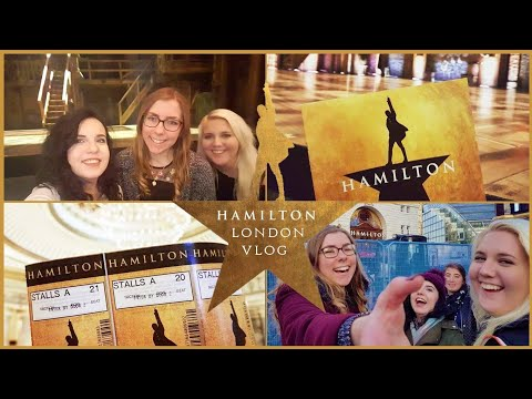 FRONT ROW AT HAMILTON LONDON PREVIEWS! Vlog/Review & Ticket/Merch Info!