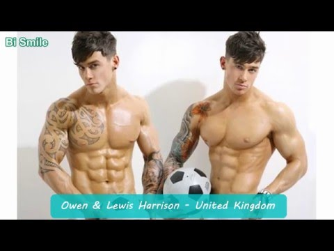 10 Sets Of Twin Male Models With Six Pack Abs || BiSmile