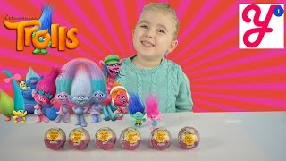 Тролли Цветан, Розочка, Алмаз, Кроха и Ручеек Шары Чупа Чупс Тролли Trolls Chupa Chups