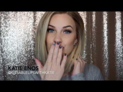 how to apply light/matte lip sense colors | katie enos