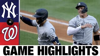 Gerrit Cole dominates in Yankees' Opening Day win | YankeesNationals Game Highlights 7/23/20