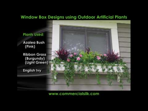 Outdoor Artificial Flowers - A Compilation of Window Plants