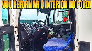 Reforma Do Interior Do Ford, Sofá Cama E Banco Do Motorista.