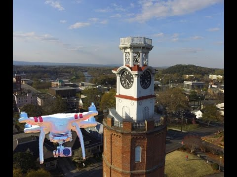 Downtown Rome Ga Aerial Video
