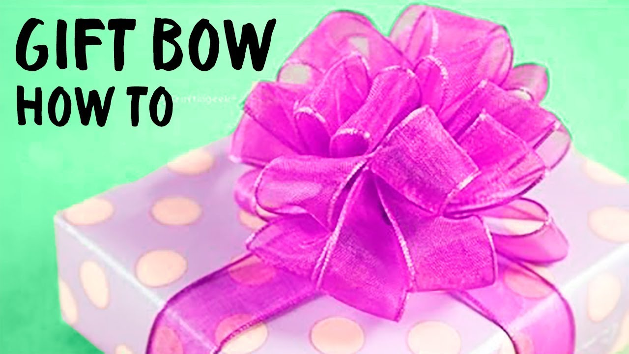 HOW TO make an EASY BOW | Pom Pom Bow | DIY Christmas ✂️ Craftingeek EN