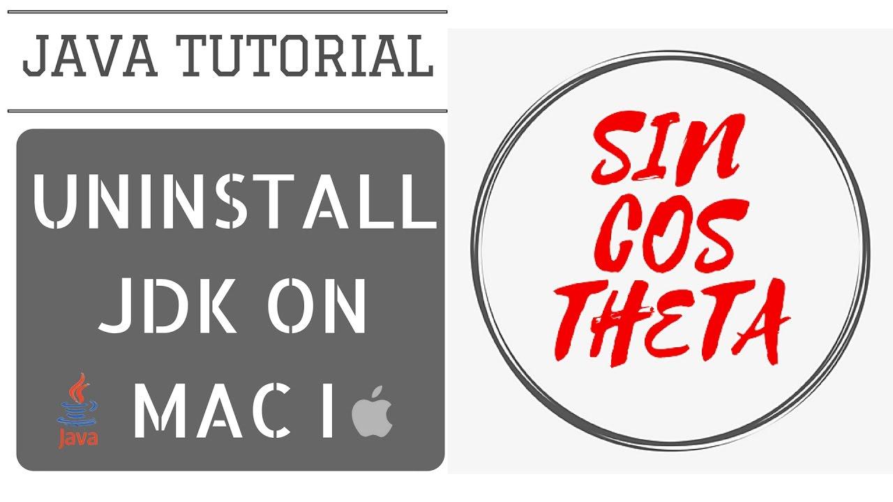 Java beginners tutorial how to uninstall previous jdk from mac java beginners tutorial how to uninstall previous jdk from mac part i java tutorial 3 baditri Gallery