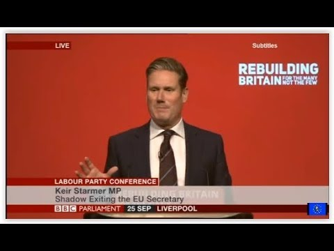 Labour conference: Peoples Vote Brexit debate - 동영상