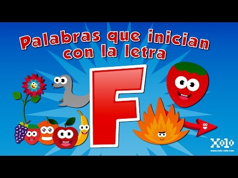 Words that start with the letter F in Spanish for children